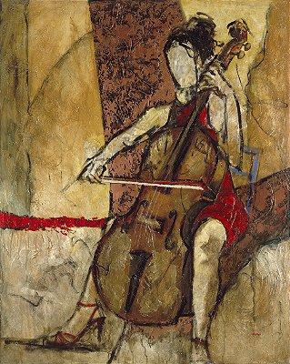 Arte Contemporânea Tela Rebecca 80 x 60 cm