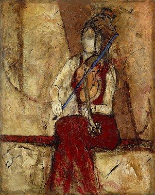 Arte Contemporânea Tela Violin for One 80 x 60 cm
