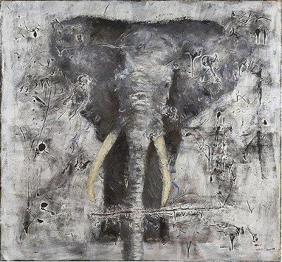 Arte Contemporânea Tela Wild Life 80 x 75 cm