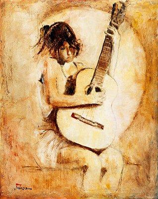 Obra de Arte Tela Soft Guitar 150 x 120 cm