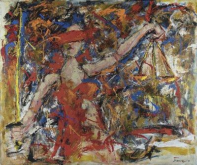 Quadro Tela Justice 100 x 125 cm