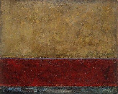 Quadro Tela Red Sea 100 x 125 cm