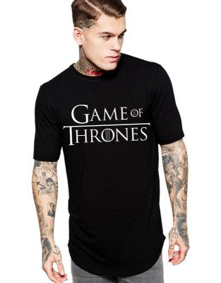 Camiseta Game Of Thrones Long Line Oversized