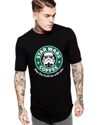 Camiseta Star Wars Coffe Long Line