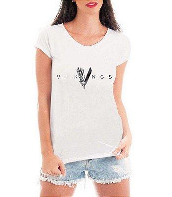 Camiseta Vikings Seriado T-shirt Feminina
