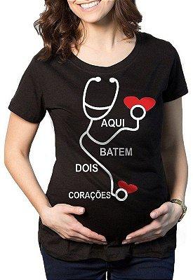 Camiseta Gestantes Grávidas Corações