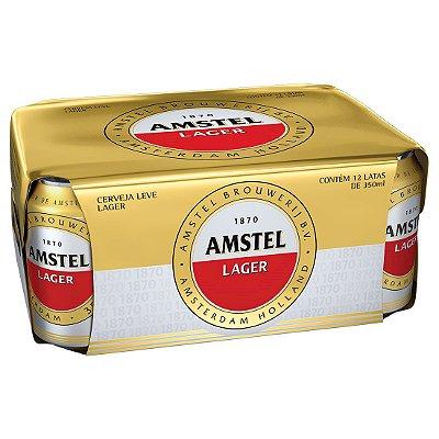 AMSTEL lata 350ml (caixa c/12)