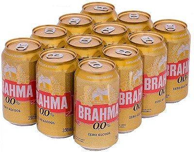 BRAHMA ZERO lata 350ml (caixa c/12)