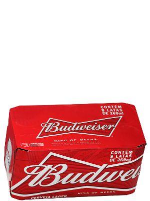 BUDWEISER lata 269ml (caixa c/8)