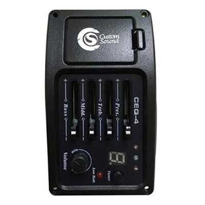 Pré-Amplificador Violão Custom Sound CEQ4 BK