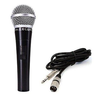 Microfone de Mão Dinâmico Custom Sound CSMS 58