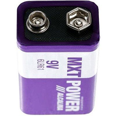 Bateria 9V MXT Alcalina 6LR61