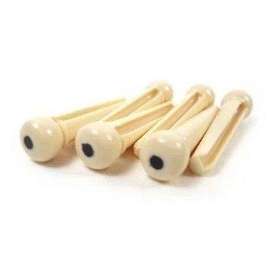 Pino Plástico para Violão Cordas de Aço Bege MXT (6 unids)