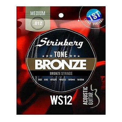 Encordoamento Violão Aço .012 Strinberg Tensão Média WS12