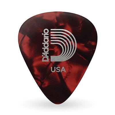 Palheta para Guitarra D'Addario Celuloide Perolada Red Leve 1CRPR