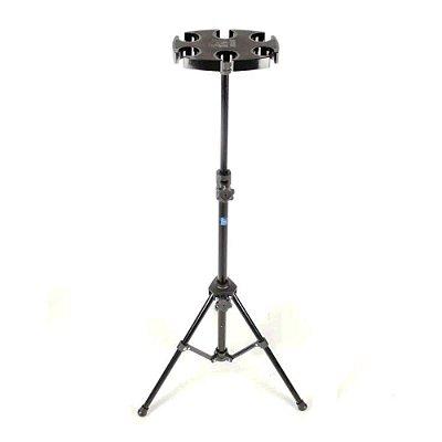 Pedestal para Descanso de 6 Microfones Visão DEM-02BK