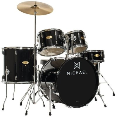 "Bateria Acústica 18"" Michael Audition DM826 BK com Pratos"