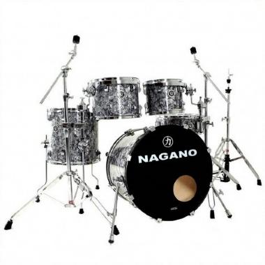"""Bateria Acústica 20"""" Nagano Concert Traditional Celulloid Abalone Gray"""