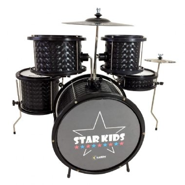 Bateria Acústica Infantil Luen Star Kids 44000PT