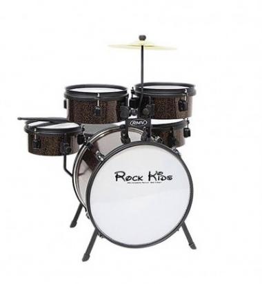 Bateria Acústica Infantil Rock Kids RMV PBKD14912 Cobre Sparkle