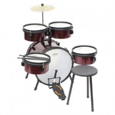 Bateria Acústica Infantil Rock Kids RMV PBKD14952 Vermelho Sparkle