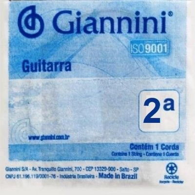 Encordoamento Avulso Guitarra Giannini GLS2 2ª Si