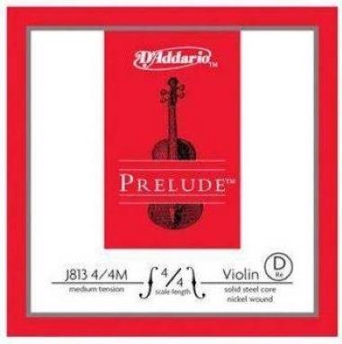 Corda Avulsa Violino 4/4 D'Addario Prelude Tensão Média J813 D (Ré)