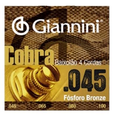 Encordoamento Baixolão 4 Cordas .045 Giannini GEEBASF