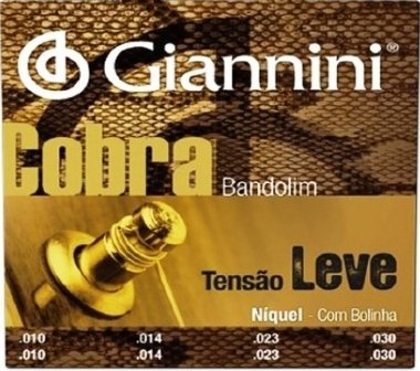 Encordoamento Bandolim .010 Giannini Cobra Tensão Leve GESBN