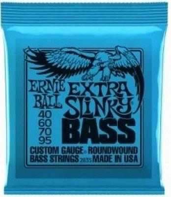 Encordoamento Contrabaixo 4 Cordas Extra Slinky Bass .040 Ernie Ball 2835