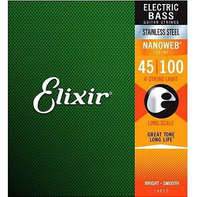 Encordoamento Contrabaixo 4 Cordas Light .045 Elixir 14652