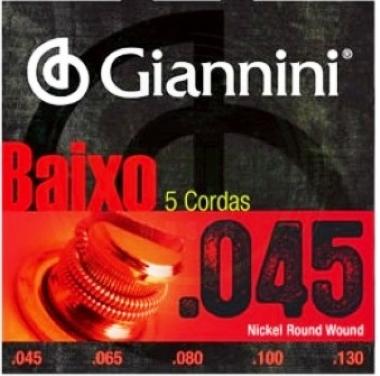 Encordoamento Contrabaixo 5 Cordas .045 Giannini GEEBRS