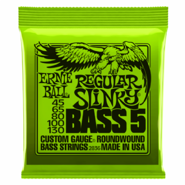 Encordoamento Contrabaixo 5 Cordas Regular Slinky .045 Ernie Ball 2836