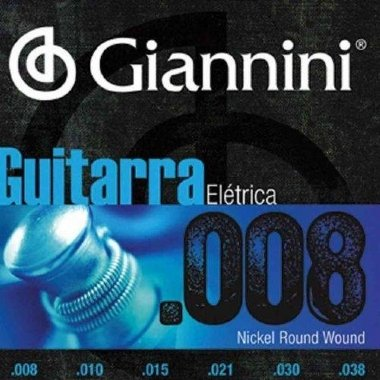 Encordoamento Guitarra .008 Giannini GEEGST8