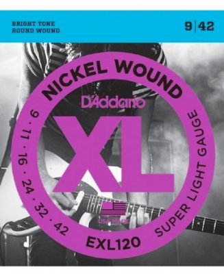 Encordoamento Guitarra .009 D'Addario Super Light EXL120