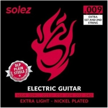 Encordoamento Guitarra .009 Solez Extra Light SLG9