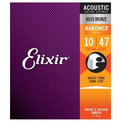 Encordoamento Guitarra .010 Elixir Extra Light 11002