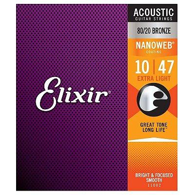 Encordoamento Violão Aço .010 Elixir Extra Light 11002