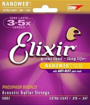 Encordoamento Guitarra .010 Elixir Extra Light 16002