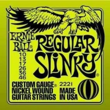 Encordoamento Guitarra .010 Ernie Ball Regular Slinky 2221