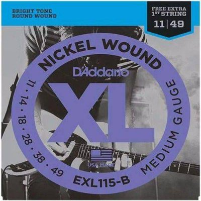 Encordoamento Guitarra .011 D'Addario EXL115-B Blues / Jazz