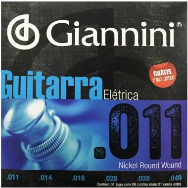 Encordoamento Guitarra .011 Giannini GEEGST11