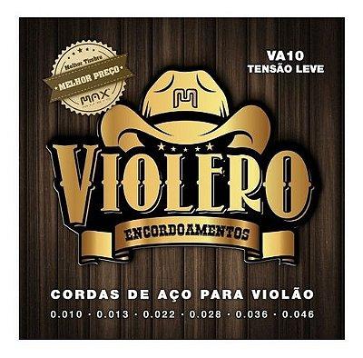 Encordoamento Violão Aço .010 Violero Tensão Leve VA10