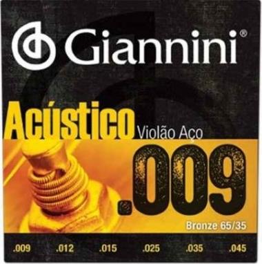 Encordoamento Violão Aço .009 Giannini Acústico GESWAL