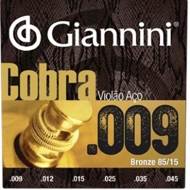 Encordoamento Violão Aço .009 Giannini Cobra GEEWAK