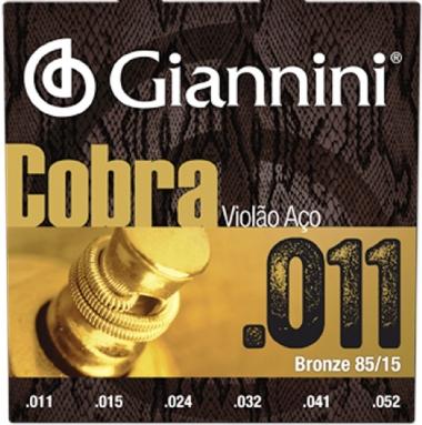 Encordoamento Violão Aço .011 Giannini Cobra GEEFLK