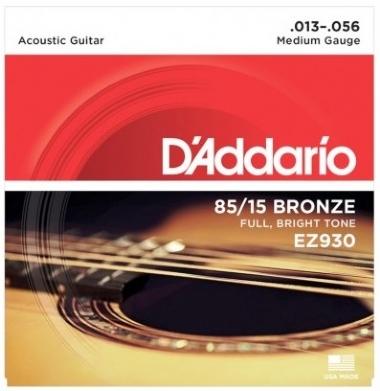 Encordoamento Violão Aço .013 D'Addario Médio EZ930