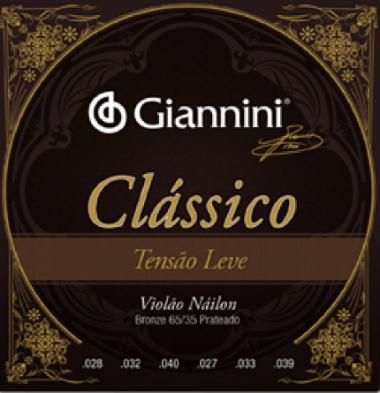 Encordoamento Violão Nylon Giannini .028 Tensão Leve Clássica
