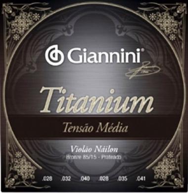 Encordoamento Violão Nylon Giannini .028 Tensão Média Titanium