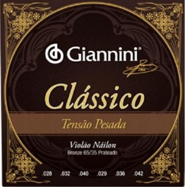 Encordoamento Violão Nylon Giannini .028 Tensão Pesada Clássica